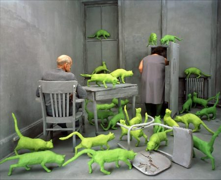 RADIOACTIVE CATS, ©1980 Sandy Skoglund